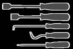 Háky a nástroje pro povolování