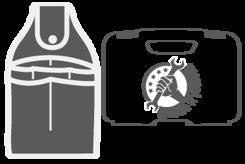 Kufřík na nářadí a tašky (prázdný)