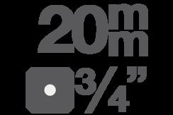 """Bitové vložky 20 mm (3/4"""")"""