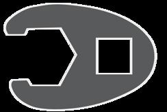 Nástrčný otevřený klíč (crowfoot)
