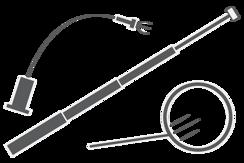 Magnetický zvedák, uchopovač a zrcátko